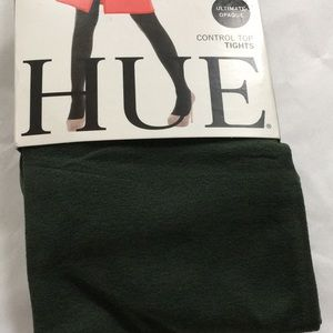 Size 3 control top TIGHTS dark Olive opaque NEW